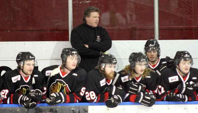 Natives head coach Ken Brooks runs the bench in Sunday night's game.