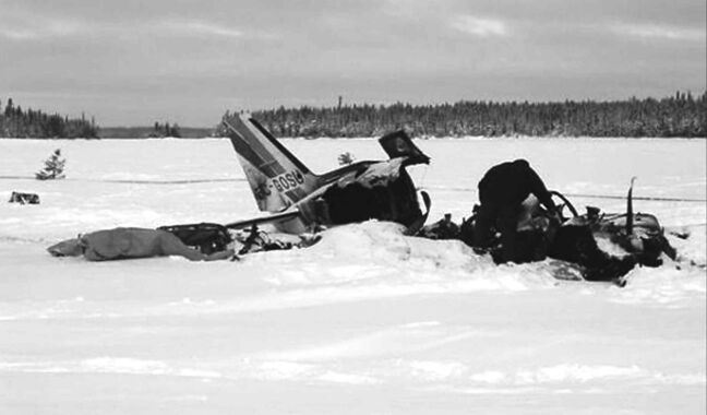 The crash of a twin-engine Piper Navajo Chieftain into a frozen lake in 2012 left the pilot and three passengers dead.