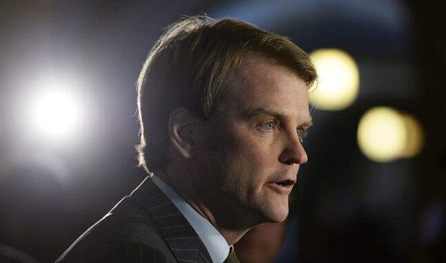 Federal Citizenship and Immigration Minister Chris Alexander talks about the situation in the Ukraine on Parliament Hill in Ottawa, Tuesday January 28, 2014. THE CANADIAN PRESS/Sean Kilpatrick