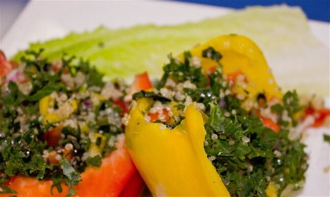 Kabbouleh Salad is Kathy Smart's take on tabbouleh with kale. THE CANADIAN PRESS/ho-Roger Deveau