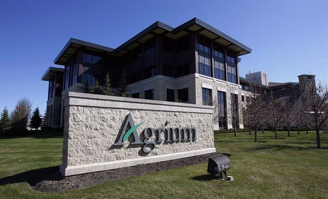 The Agrium head office seen before the start of the company's annual meeting in Calgary, in a May 11, 2012 photo. THE CANADIAN PRESS/Jeff McIntosh