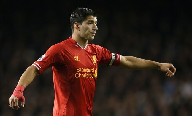 Liverpool's Luis Suarez in London, Dec. 15, 2013. THE CANADIAN PRESS/AP, Alastair Grant