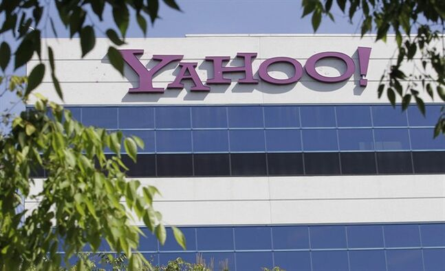 The Yahoo logo is displayed outside the company's offices in Santa Clara, Calif., on May 20, 2012. THE CANADIAN PRESS/AP, Paul Sakuma