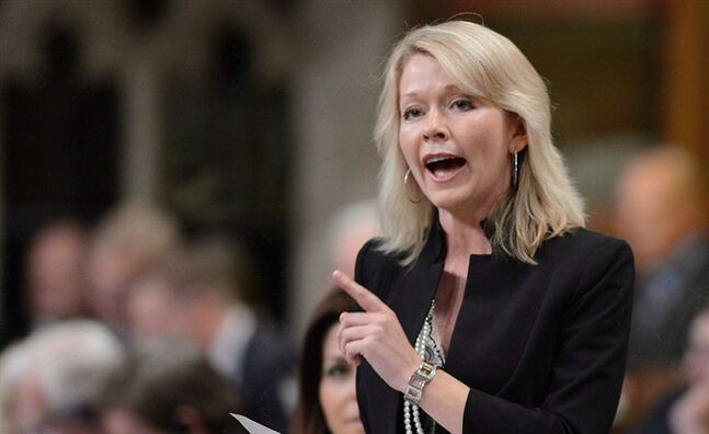 Conservative MP Candice Bergen responds to a question in Ottawa on Thursday, June 13, 2013. Canadians appear to be losing interest in a controversial awards program linked to Stephen Harper's office. THE CANADIAN PRESS/Sean Kilpatrick