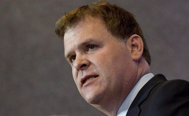 Foreign Affairs Minister John Baird responds to a question at a news conference Friday, May 2, 2014 in Ottawa. Foreign Affairs Minister John Baird says a third shipment of Canadian aid to Ukraine departs for Kyiv today aboard a CC-130J Hercules aircraft. THE CANADIAN PRESS/Adrian Wyld