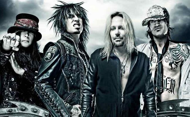 Mick Mars, Nikki Sixx, Vince Neil and Tommy Lee of Mötley Crüe will play Westman Place on May 6. Tickets on sale Friday, March 1.