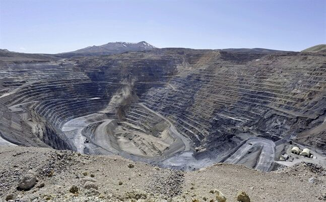The Newmont Gold Quarry pit is pictured in Battle Mountain, Nev. April 4, 2012. THE CANADIAN PRESS/AP, The Reno Gazette-Journal, David B. Parker