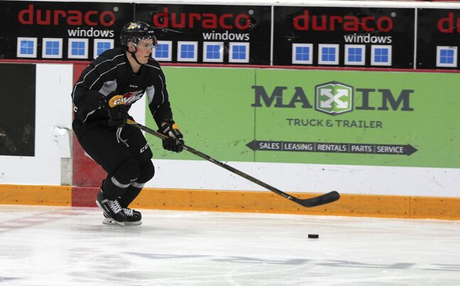 Brandon Wheat Kings defenceman Kade Jensen has travelled a long way to get his first taste of the Western Hockey League post-season. The Calgary product will finally play in the first WHLplayoff game in his four-year career tonight in Medicine Hat.
