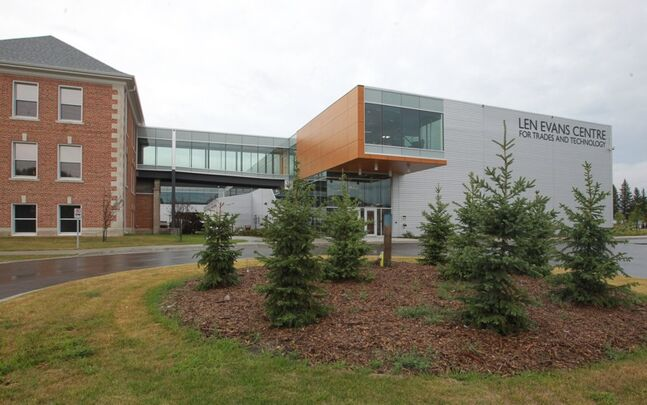The new Len Evans Centre for Trades and Technology is located at the First Street North campus of Assiniboine Community College.