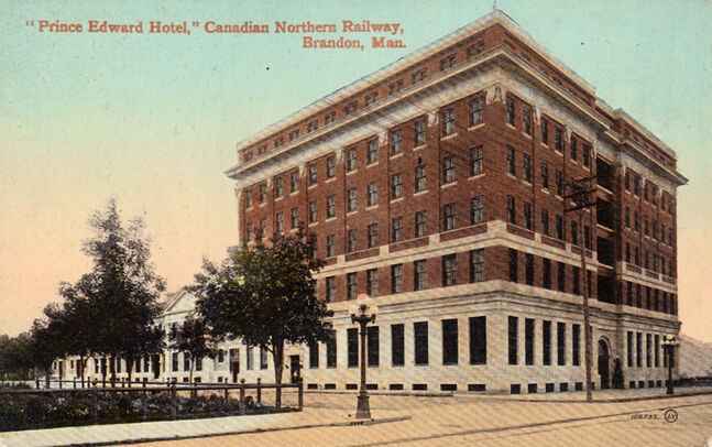 A postcard showing the Prince Edward Hotel shortly after its construction.