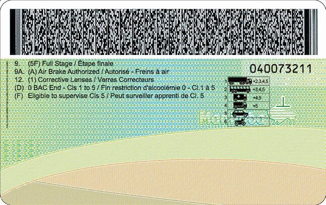 The two-dimensional bar code identifies you as a driver.