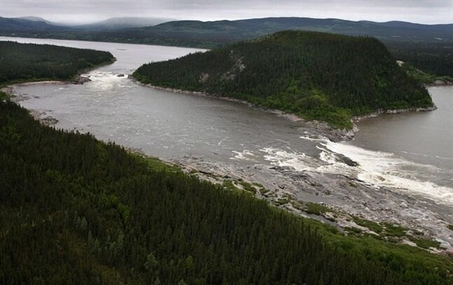 Muskrat Falls, on the Churchill River in Labrador, is pictured in a Feb., 2011 file photo. THE CANADIAN PRESS/Paul Daly
