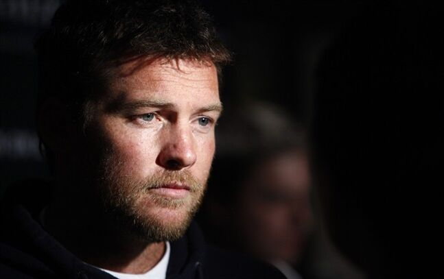 FILE - In this Jan. 19, 2012 file photo, Actor Sam Worthington attends the Cinema Society premiere of