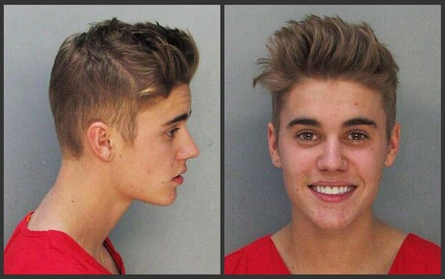 These police booking mugs made available by the Miami Dade County Corrections Department show pop star Justin Bieber, Jan. 23, 2014. THE CANADIAN PRESS/AP, Miami Dade County Jail