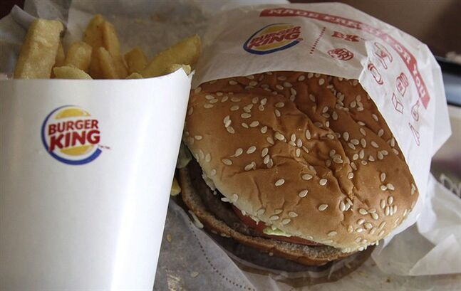 A burger and fries at a Burger King in Richardson, Texas on June 20, 2012. THE CANADIAN PRESS/AP, LM Otero