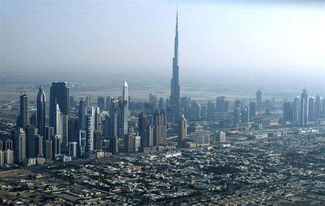 In this Jan. 3, 2010 photo, Burj Dubai, the world's tallest building, seen at center, in Dubai, United Arab Emirates. THE CANADIAN PRESS/AP, Kamran Jebreili