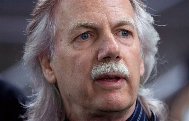 B.C. Teachers' Federation president Jim Iker speaks in Vancouve, on May 26, 2014. THE CANADIAN PRESS/Darryl Dyck