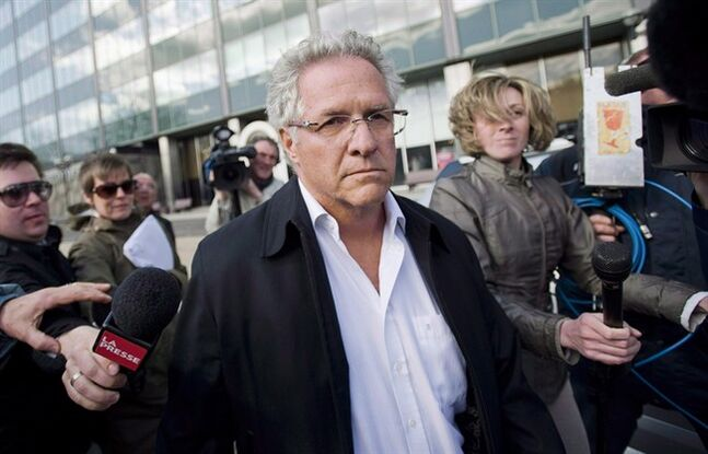 Tony Accurso leaves SQ headquarters in Montreal in a April 17, 2012 file photo. Accurso has lost his latest bid to avoid testifying at the the province's corruption probe. THE CANADIAN PRESS/Graham Hughes