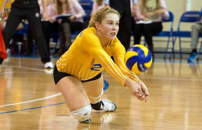 Brandon's Lisa Barclay is fourth in Canada West in kills per set in her third season with the UBC Thunderbirds.