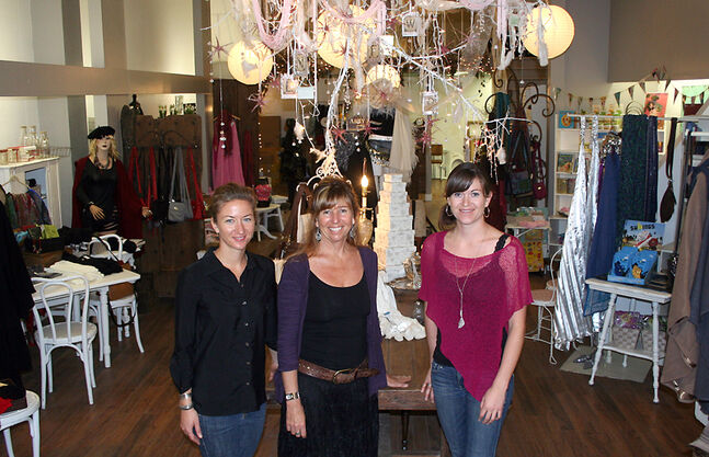 In this September 2012 photo, Kaleigh Stobbe, Bridget Shaw and Miranda Stobbe stand in the new Abby Rose store located on the 900-Block of Rosser Avenue. Next to Abby Rose is The Wildflower Cafe, which features homemade food and speciality drinks. Both stores received funding from Renaissance Brandon to get started. An extensive review of Renaissance Brandon is underway, tackling everything from its mandate to its funding model.