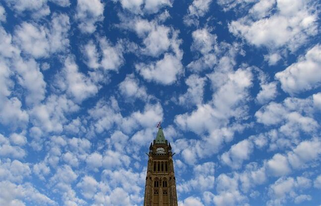 The Peace Tower is seen on Parliament Hill in Ottawa on November 5, 2013. THE CANADIAN PRESS/Sean Kilpatrick