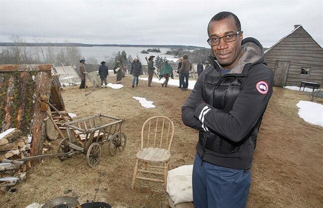 Canadian director Clement Virgo poses for a photo on the set of