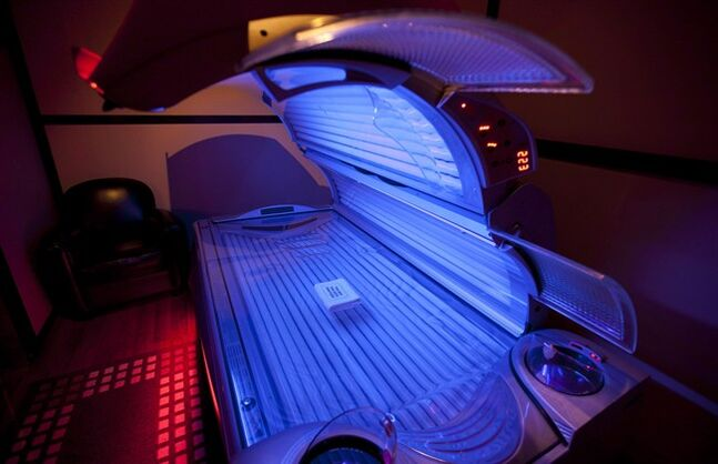 A tanning bed is seen in North Vancouver, B.C. Tuesday, March, 20, 2012. THE CANADIAN PRESS/Jonathan Hayward
