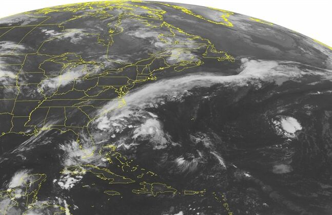 This NOAA satellite image taken Tuesday, Aug. 5, 2014 at 01:45 AM EDT shows Hurricane Bertha off to the east of Florida, Georgia and South Carolina. THE CANADIAN PRESS/AP, Weather Underground