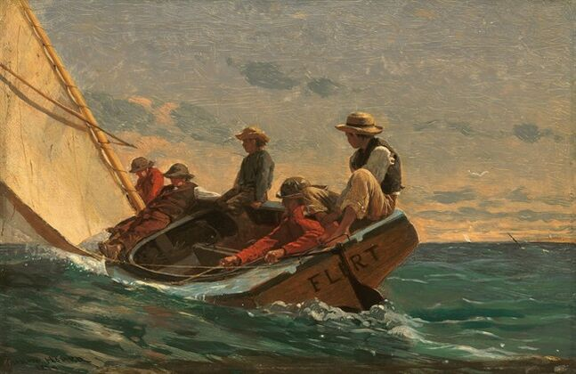 This image provided by the National Gallery of Art shows Winslow Homer's