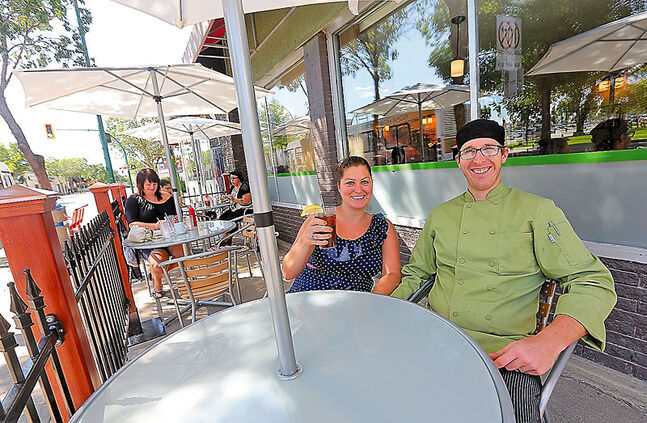 Heather and Derek Woychyshyn would like you to enjoy their new patio on Princess Avenue at Komfort Kitchen.