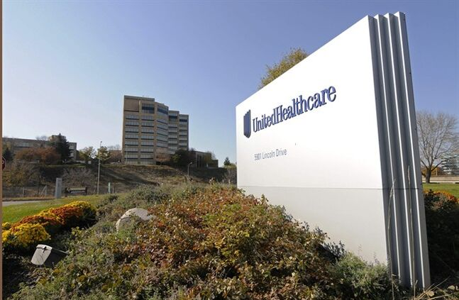 FILE - This Tuesday, Oct. 16, 2012, file photo, shows a portion of The UnitedHealth Group Inc.'s campus in Minnetonka, Minn. UnitedHealth Group reports quarterly earnings on Thursday, July 17, 2014. (AP Photo/Jim Mone, File)