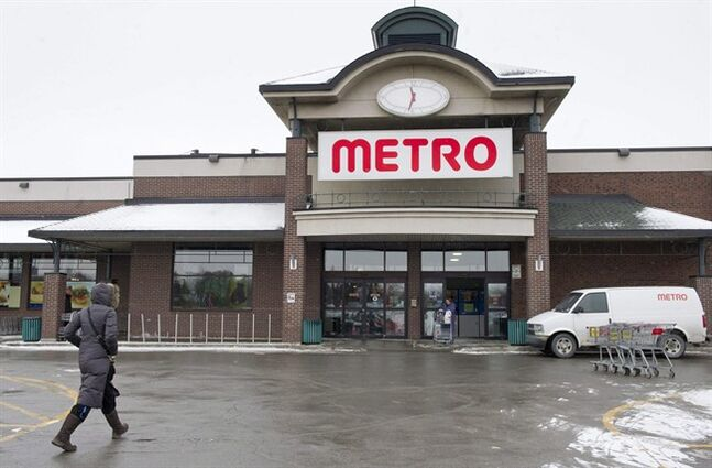 A Metro grocery store is seen on January 31, 2012 in Montreal. THE CANADIAN PRESS/Paul Chiasson