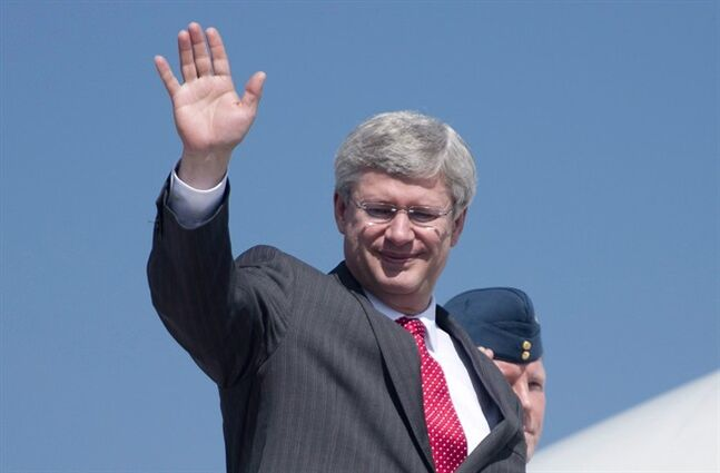 Prime Minister Stephen Harper says he's sticking around for the next election.