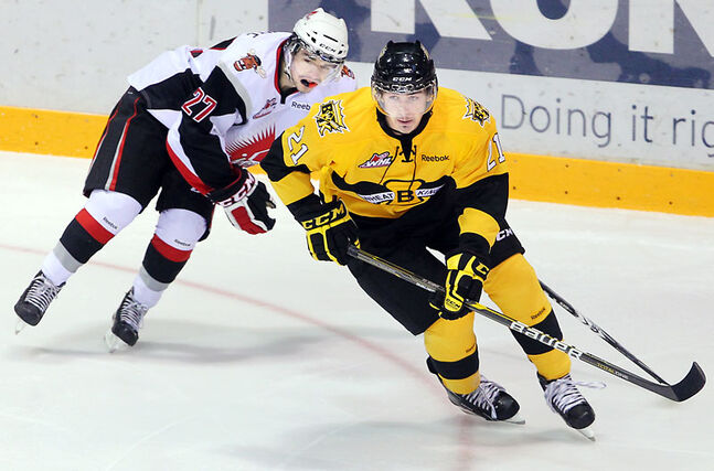Tyrel Seaman of the Brandon Wheat Kings (21) was selected 206th overall by the St. Louis Blues in this year's NHL Entry Draft.