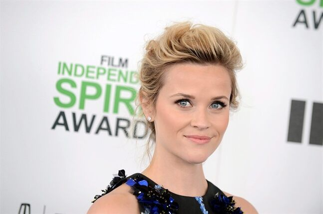 Reese Witherspoon arrives at the 2014 Film Independent Spirit Awards, on Saturday, March 1, 2014, in Santa Monica, Calif. Oscar-nominated Quebec director Philippe Falardeau will celebrate the world premiere of his new movie
