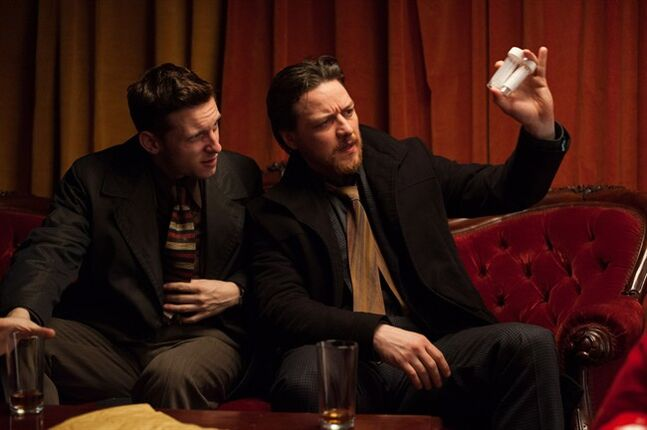 "Jamie Bell (left) and James McAvoy (right) star in ""Filth,"" based on an Irvine Welsh novel about a despicable homicide cop, opening Friday.THE CANADIAN PRESS/ho-Video Services Corp.-Neil Davidson"