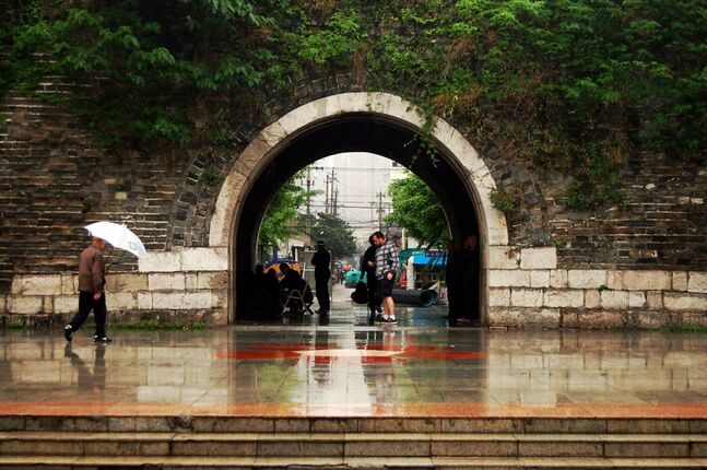 Han Zhong Gate: Here is the gate itself. It was a part of the walls during the Ming dynasty and now serves as a public park.