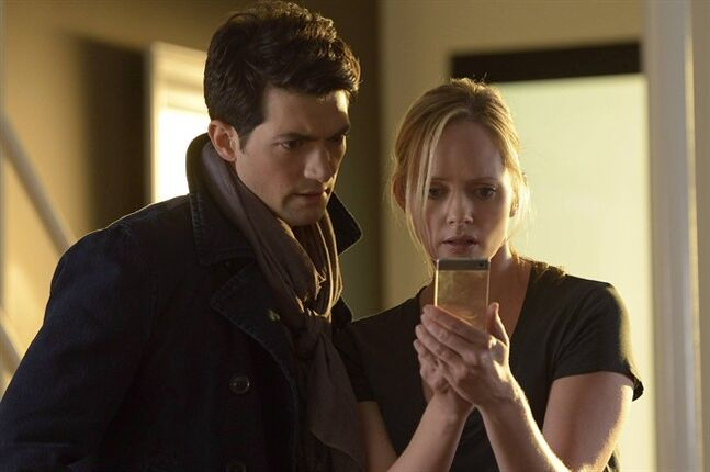 David Alpay plays James Lynch alongside Marley Shelton's character Alison Lennon on Lifetime's