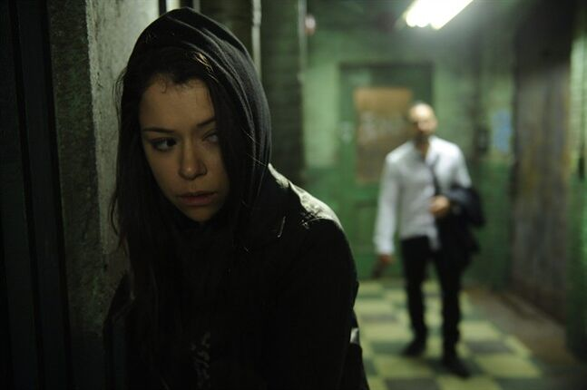 This image released by BBC America shows Tatiana Maslany in a scene from