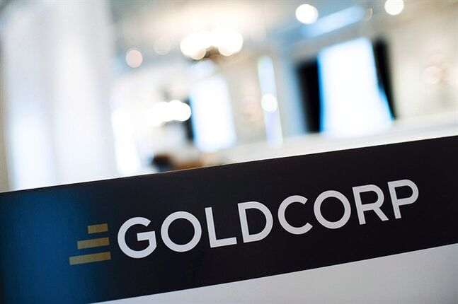 A Goldcorp sign is pictured at an annual general meeting in Toronto on May 2, 2013. THE CANADIAN PRESS/Aaron Vincent Elkaim