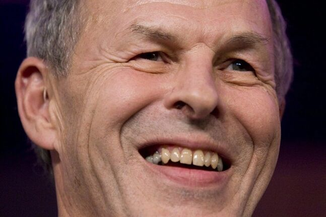 Linden MacIntyre smiles in Toronto on November 10, 2009. THE CANADIAN PRESS/Darren Calabrese