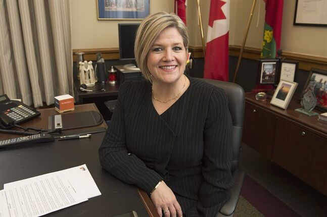 Ontario NDP leader Andrea Horwath poses for a photo at her office in Toronto on May 2, 2014. THE CANADIAN PRESS/Frank Gunn