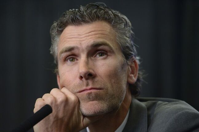 Vancouver Canucks president Trevor Linden listens to a question at a news conference in Vancouver on Thursday, May 1, 2014. Linden announced that head coach John Tortorella and assistant coach Mike Sullivan have been relieved of their duties. THE CANADIAN PRESS/Jonathan Hayward