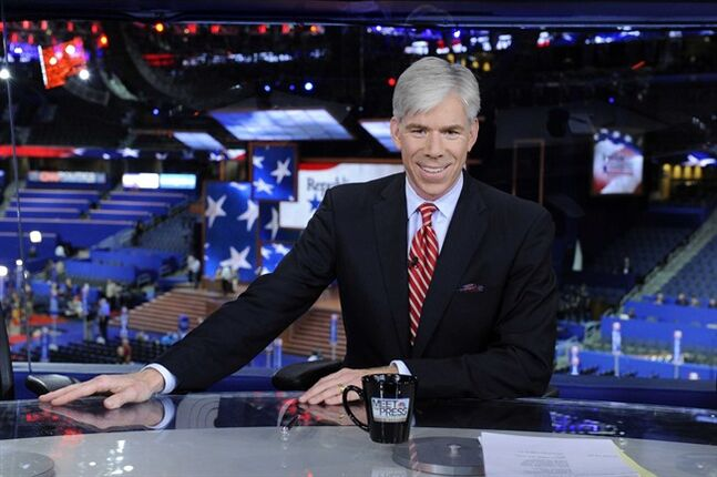 This Aug. 26, 2012 photo released by NBC shows host David Gregory from