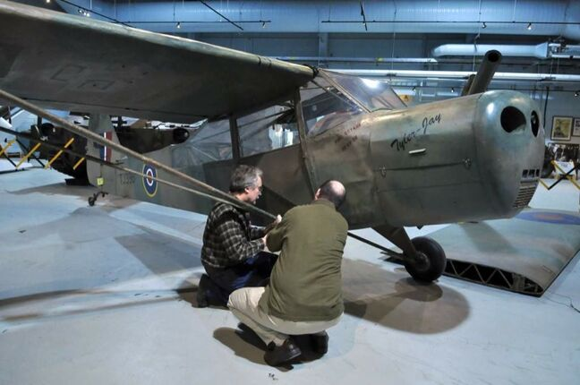 A vintage Second World War aircraft, a Taylorcraft Auster Mark V, is now on display at the RCA Museum at CFB Shilo.