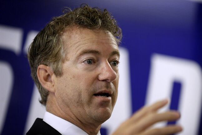 Sen. Rand Paul, R-Ky. speaks during a stop with local Republicans, Tuesday, Aug. 5, 2014, in Hiawatha, Iowa. It's been a fascinating few days for a presumptive presidential candidate sometimes dubbed the most interesting man in American politics. THE CANADIAN PRESS/AP, Charlie Neibergall