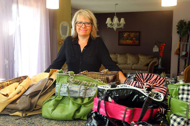 Lucy Reimer, who bases Lucy Designs out of her Westman-area home, will be showcasing and giving away about 70 of her handmade handbags in the celebrity gifting lounge during the Toronto International Film Festival next week.