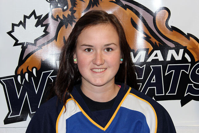 Jessica Vallotton is in her final season with the Westman Wildcats in the Manitoba Female Midget Hockey League.