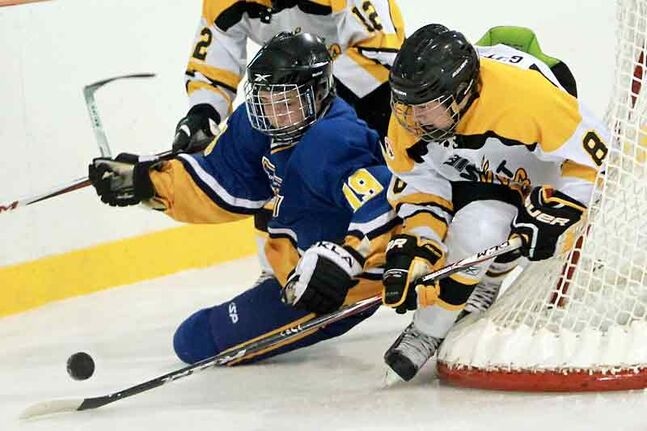 Brandon's Connor Gutenberg (right) and Binscarth's Adam Robidoux will compete in the Bantam AAA Showcase this weekend.