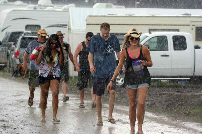 A little rain wasn't enough to stop these country music fans from enjoying themselves at Dauphin's Countryfest.